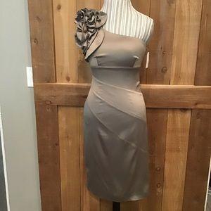 Jessica Simpson Formal One Shoulder Midi Dress NWT